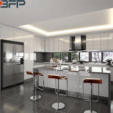white gloss glass kitchen cabinets china 2020 modern design customized wooden white high gloss