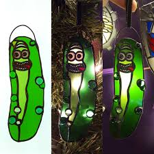 stained glass pickle rick ornament imgur
