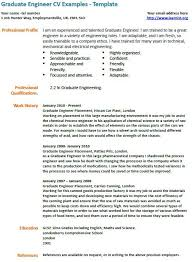 Graduate Mechanical Engineer Resume Sample by Resume Template Graduate Engineer
