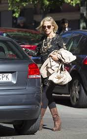 s ugg australia elsa boots elsa pataky steps out in jungle print mini dress and suede boots