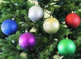 amazon com festive season assorted sparkle christmas ornament