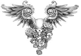 skull and gun designs skull butterfly meaning