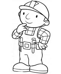 bob builder coloring pages colouring kids