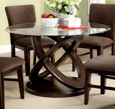 Atwoods Outdoor Furniture - atwood i 5pc dinette set in dark walnut w glass top