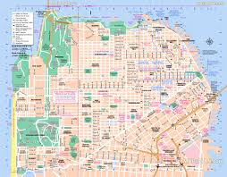 Chinatown San Francisco Map by San Francisco Top Tourist Attractions Map 06 Free Map Main