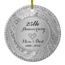 25th wedding anniversary christmas ornament diamond wedding anniversary christmas tree decorations ornaments