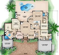 front mediterranean house plan corsica 30 443 1st floor plan