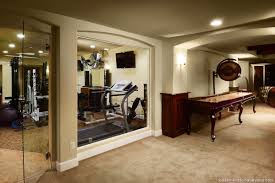basement exercise room view of the work out room showcasing a