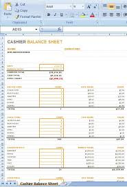 Drawer Balance Sheet Template Cashier Balance Sheet Is A Layout For You To Stay Informed