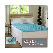 queen mattress topper 2 inch beautyrest cool gel memory foam bed