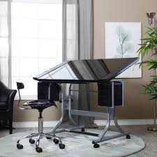 Alvin Drafting Table Alvin Craftmaster Ii Glass Top Drawing Drafting Table