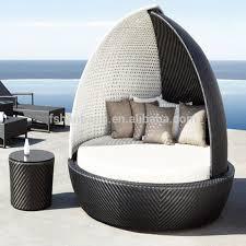 Outdoor Rattan Wicker Garden Furniture Set Round Sofa Bed For - Round outdoor sofa 2