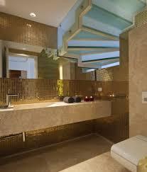 metallic wall decor trends using tiles