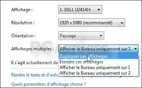 afficher bureau windows 7 cloner écran sur un autre écran ou une tv windows 7