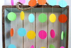 Pink And Yellow Birthday Decorations Pink Orange Yellow Green Turquoise Blue 12 Ft Circle Paper