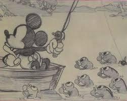1931 walt disney original sketch mickey mouse