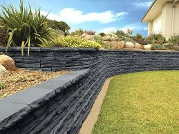 Garden Walls Ideas Retainer Wall Garden Ideas A Retaining Wall With Two Tiers Of