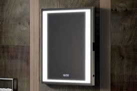 Heated Bathroom Mirror With Light Bathroom Lighting Delveccio Led Bathroom Mirror With Shaver