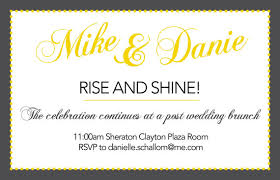 wedding brunch invitation continue the celebration at a post wedding brunch invite your