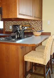 small breakfast bar table beige granite countertops drawer and