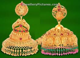 gold earrings jhumka design gold jhumka designs in grt jewellery designs