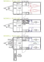 Caravan Floor Plans Newell Toy Hauler Series Trailblazers Rv
