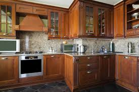 oak kitchen cabinets with glass doors how to remove an odor from wooden cabinets in a kitchen