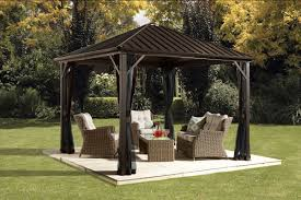 sojag dakota 10 ft w x 10 ft d aluminum permanent gazebo