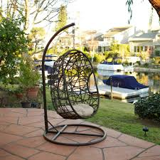 Outdoor Swing Chair Canada Guerneville Egg Shaped Swing Chair Great Deal Furniture Canada