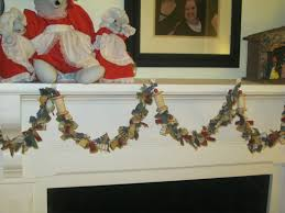 tip garden homespun christmas tree garland from old flannel shirts