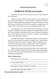printable comprehension stories magician of the sea reading comprehension story