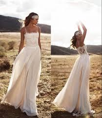 2016 lace lurelly beach boho wedding dresses spaghetti a line