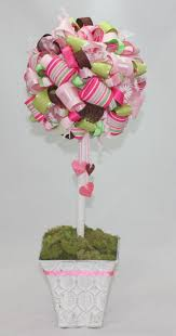 How To Make Ribbon Topiary Centerpieces 9 best images about topiaries on pinterest christmas trees