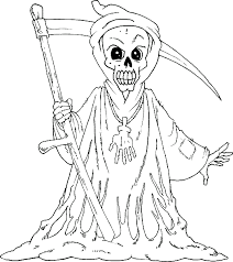 Scary Coloring Pages Grim Reaper Coloringstar Scary Coloring Paes