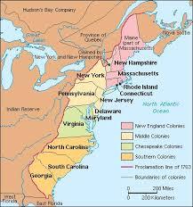 map of colonies map of original 13 colonies