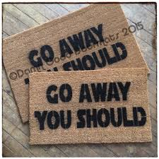 go go kittykat don u0027t away mad just amazing funny doormats ideas