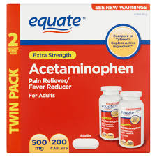 equate extra strength acetaminophen rapid release gelcaps 500 mg