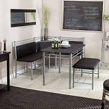 amazon com 6pc counter height dining table u0026 stools set dark