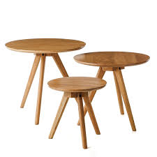 Adairs Side Table Home Republic Scandi Collection Oak Set 3 Tables Furniture