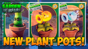 plants vs zombies garden warfare new plant pots