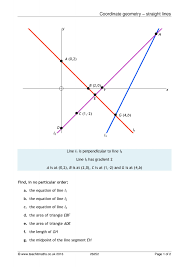 Coordinate Geometry Worksheets All Our Ks5 Maths Resources Teachit Maths