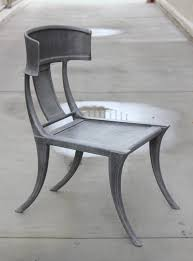 modern klismos chair pair of michael taylor cast aluminum klismos chairs for sale at