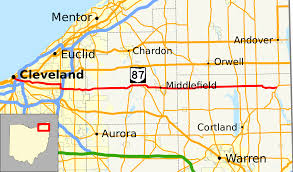 Map Of Youngstown Ohio by Ohio State Route 87 Wikipedia