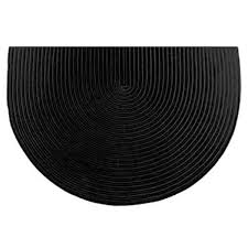 Black And White Braided Rug 46 U0027 U0027 Half Round Black Solid Color Braided Hearth Rug Northline
