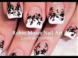 diy nail art black and white lace nails elegant nail design