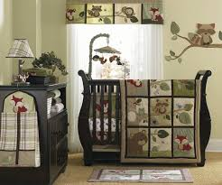 Green And Brown Crib Bedding by Baby Bedding Sets Gender Neutral White Wooden Nursery Shelves Pad