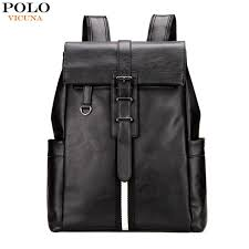 Cover Bag Polo Vicuna Polo Fashion Striped Leather Backpack Bag Large Capacity