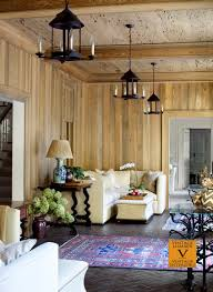 living area river recovered cypress paneled walls and pecky