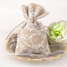 burlap wedding favor bags vintage lace wedding favor bag burlap linen bridal shower sachet