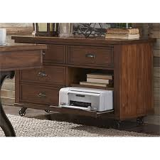 file cabinet with pull out shelf credenza with pull out printer shelf by liberty furniture wolf and
